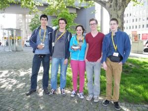 Das Rescue-Team 2014, Davide Ferrari, Robert Steffner, Riccarda Albertinm Remo Marugg, Valentin Jenny (v.l.n.r.)